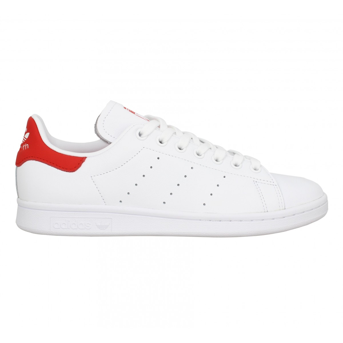 adidas stan smith blanc rouge femme