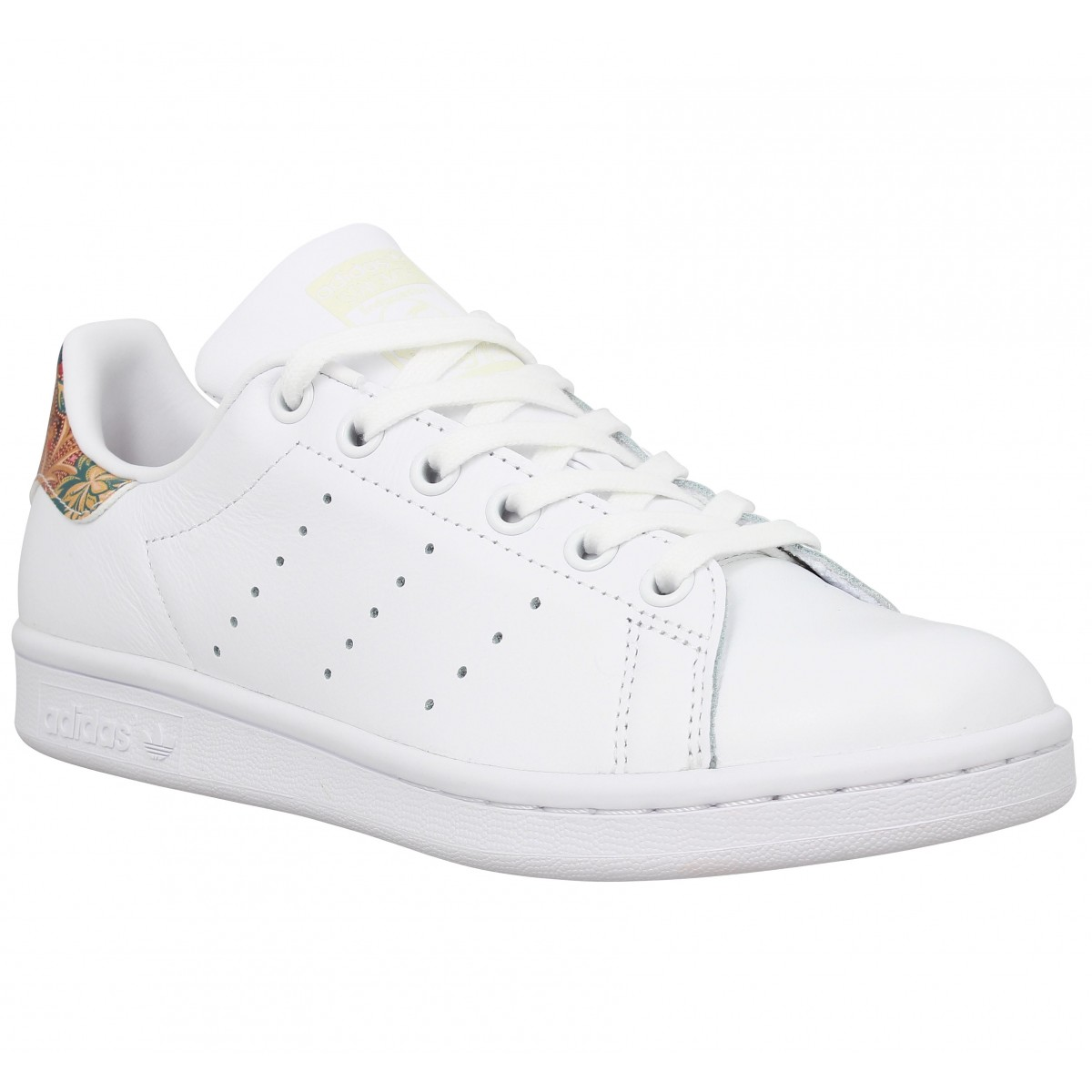 Baskets ADIDAS Stan Smith cuir Femme Blanc