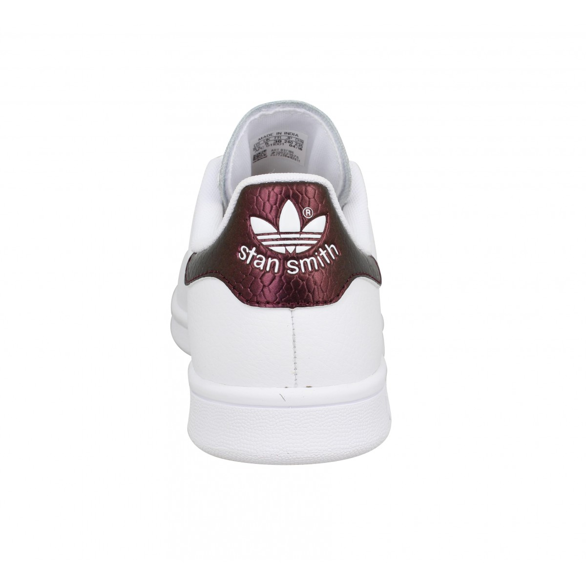ADIDAS Stan Smith cuir Femme Blanc Bordeaux