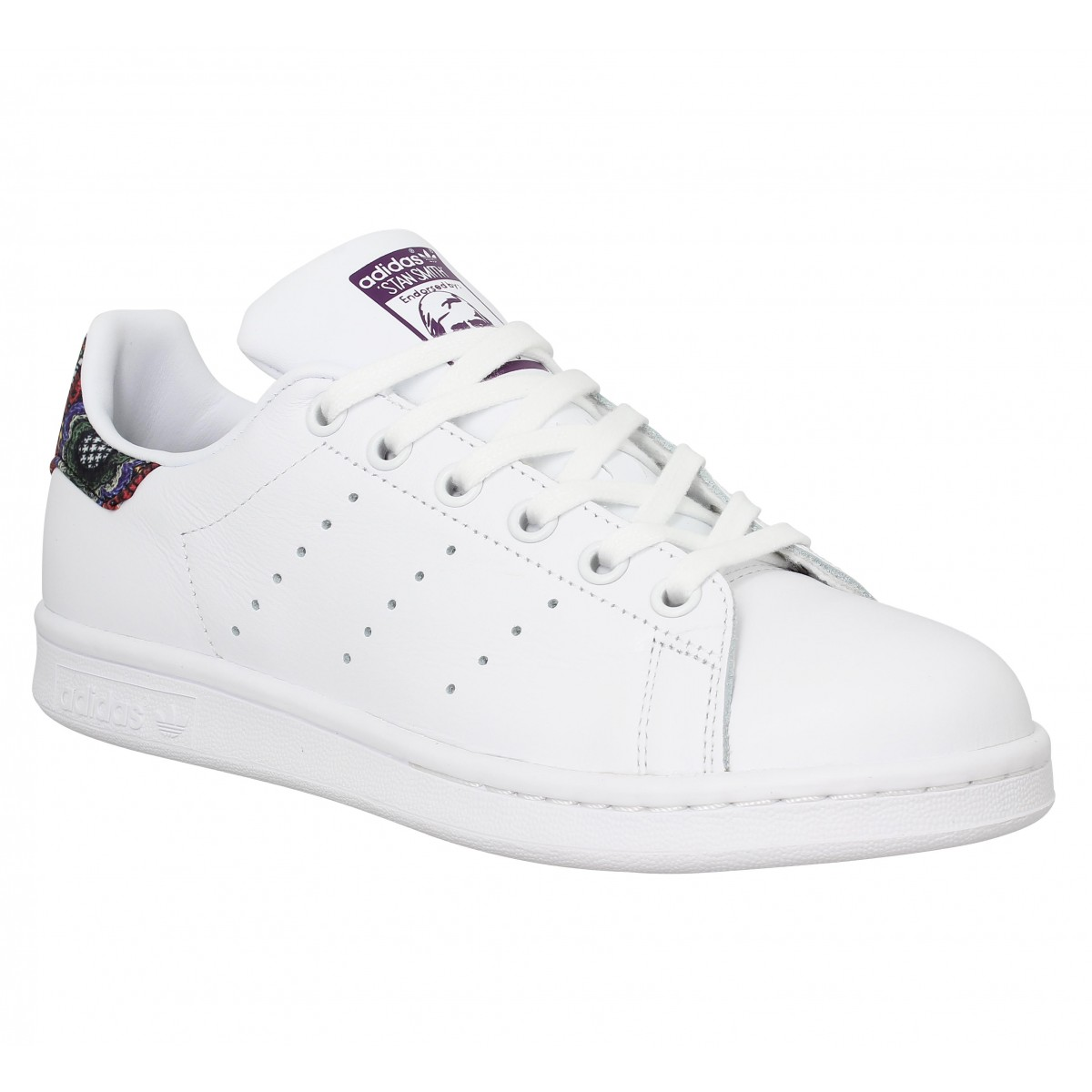 Baskets ADIDAS Stan Smith cuir Blanc Mid Grey