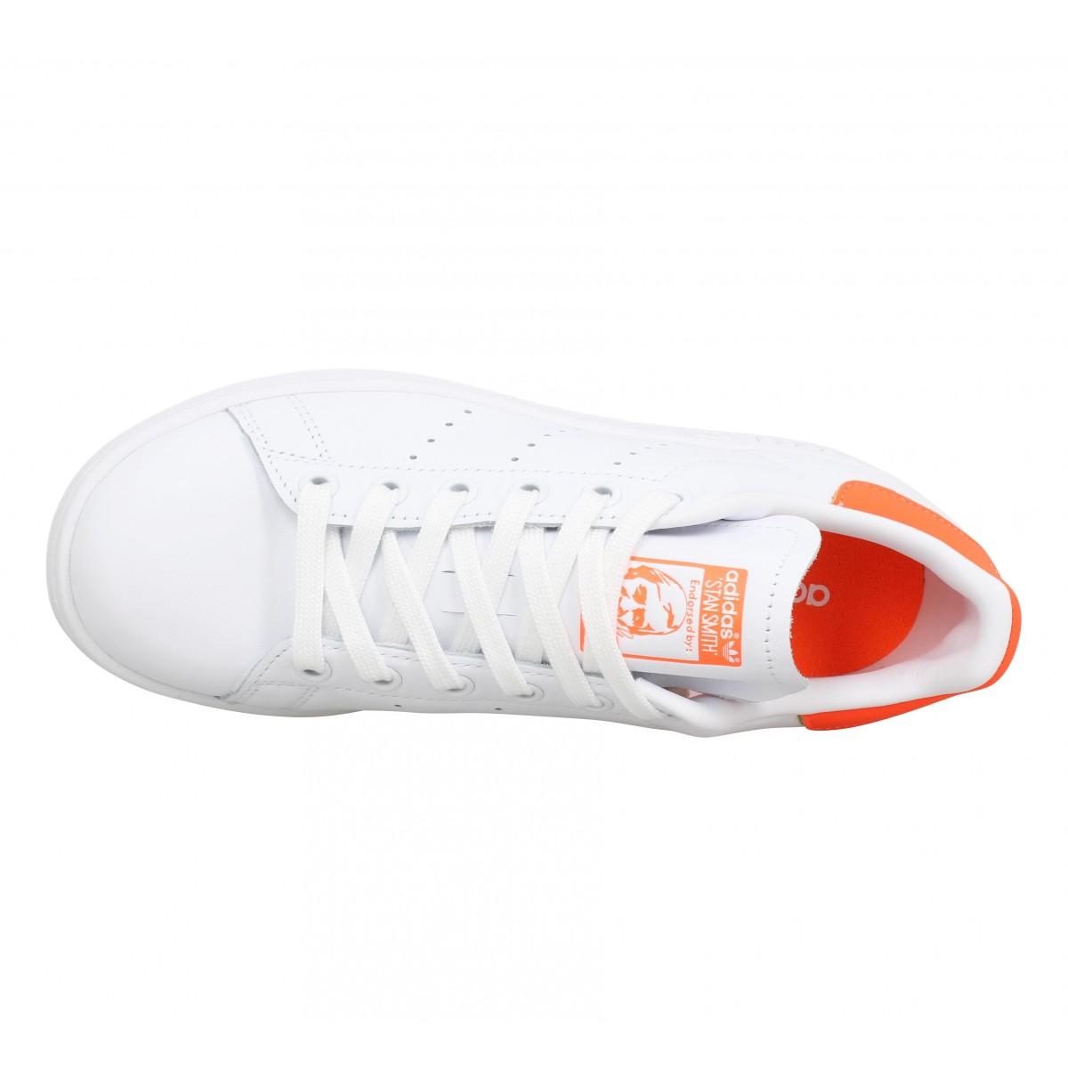 ADIDAS Stan Smith cuir Femme Blanc Orange