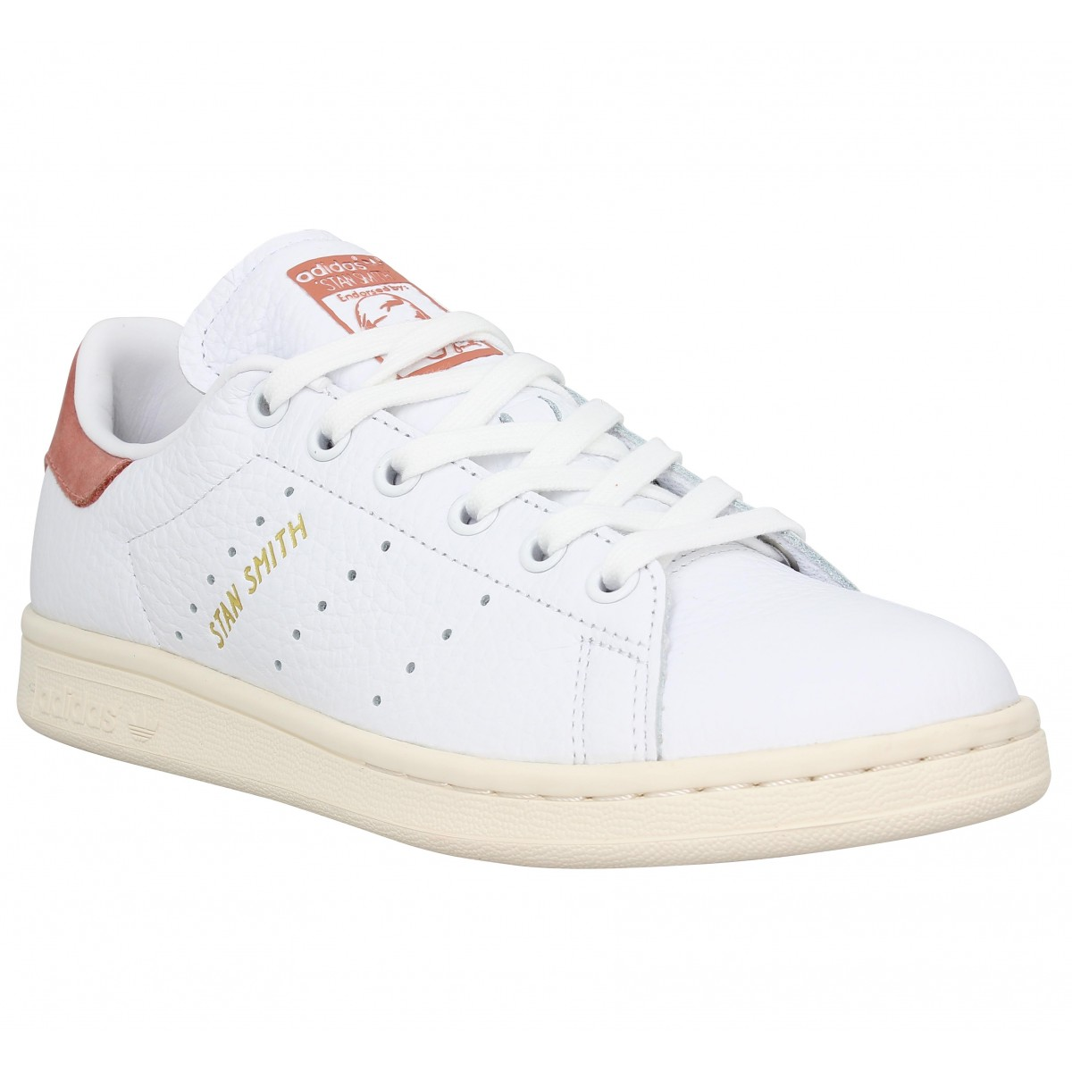 Baskets ADIDAS Stan Smith cuir Femme Blanc Rose