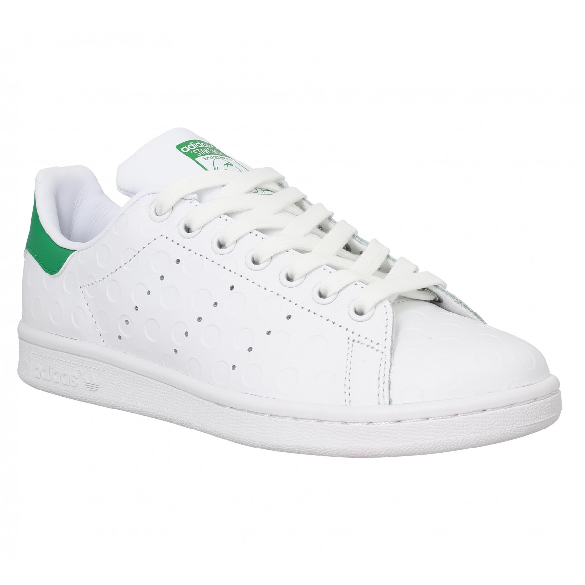 Baskets ADIDAS Stan Smith cuir grave Blanc Vert