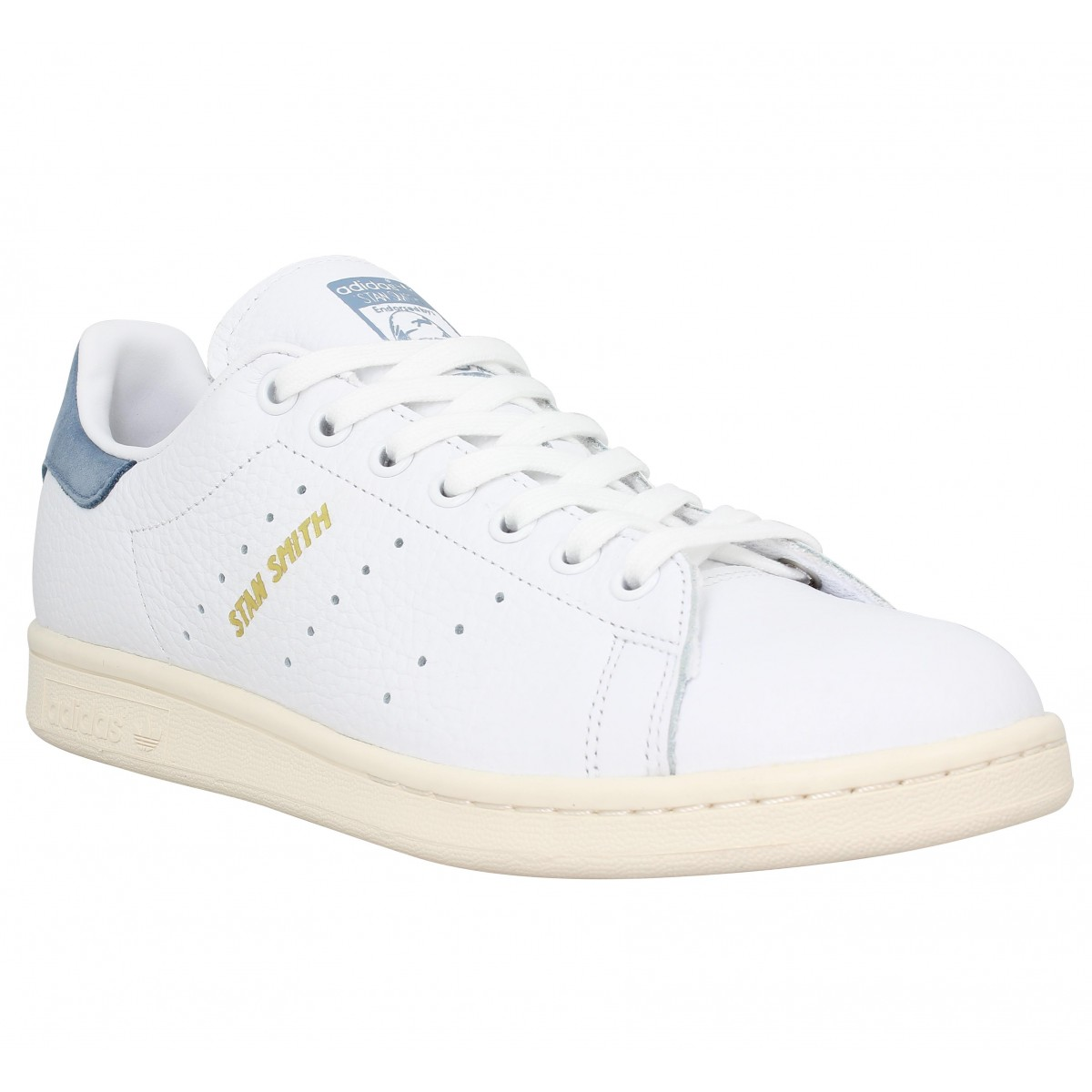 Baskets ADIDAS Stan Smith cuir Homme Blanc Bleu