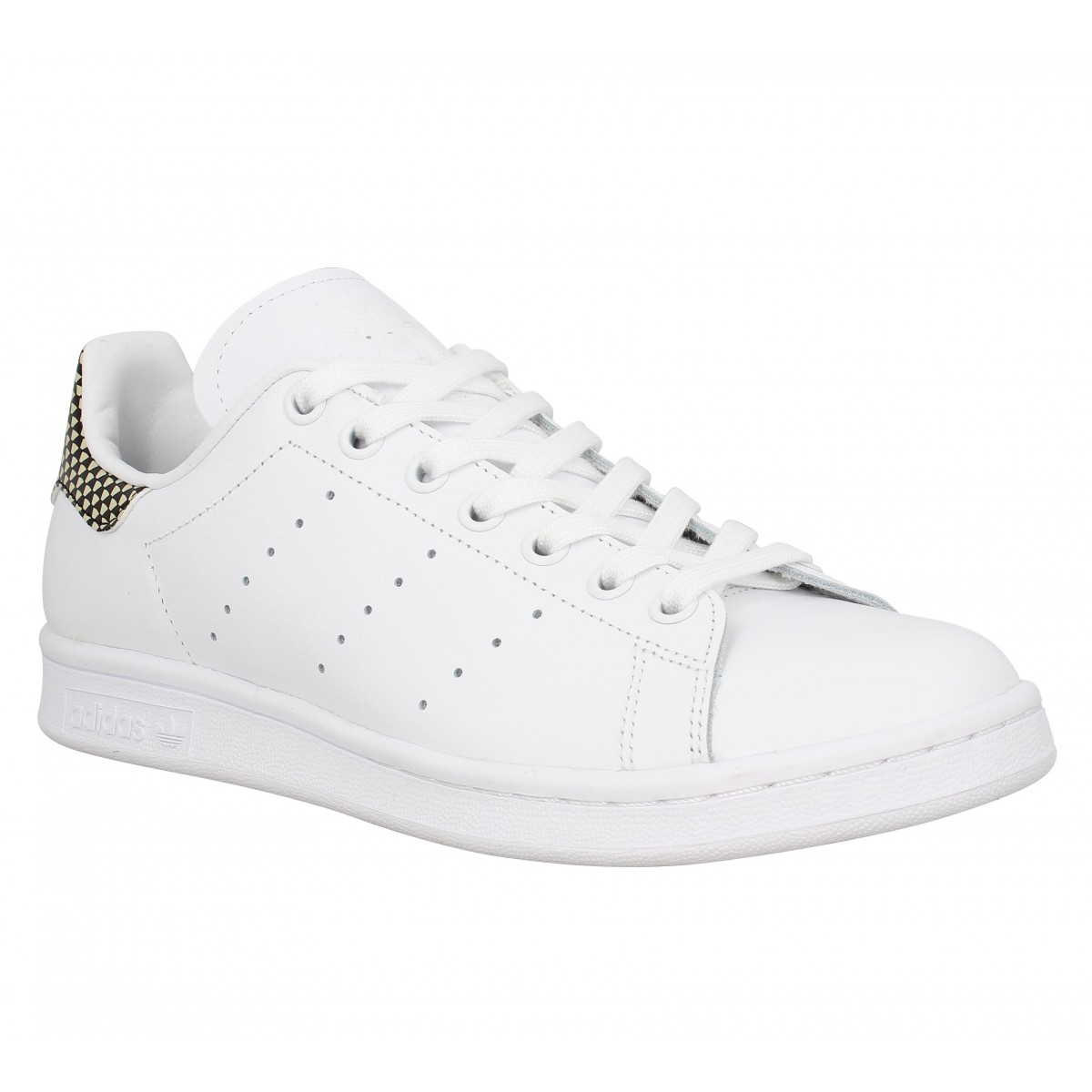 Baskets ADIDAS Stan Smith cuir Homme Blanc Damier