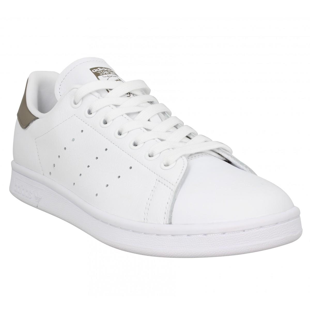 Adidas Homme Stan Smith Cuir -40-blanc...