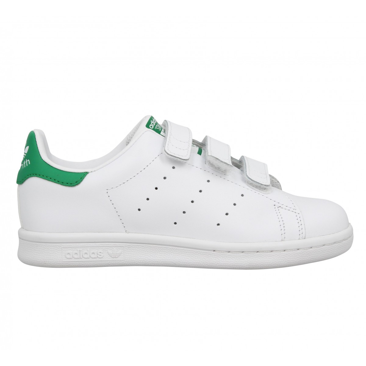 check out 4af60 3e295 Chaussures Adidas stan smith ii cuir enfant blanc vert  Fann