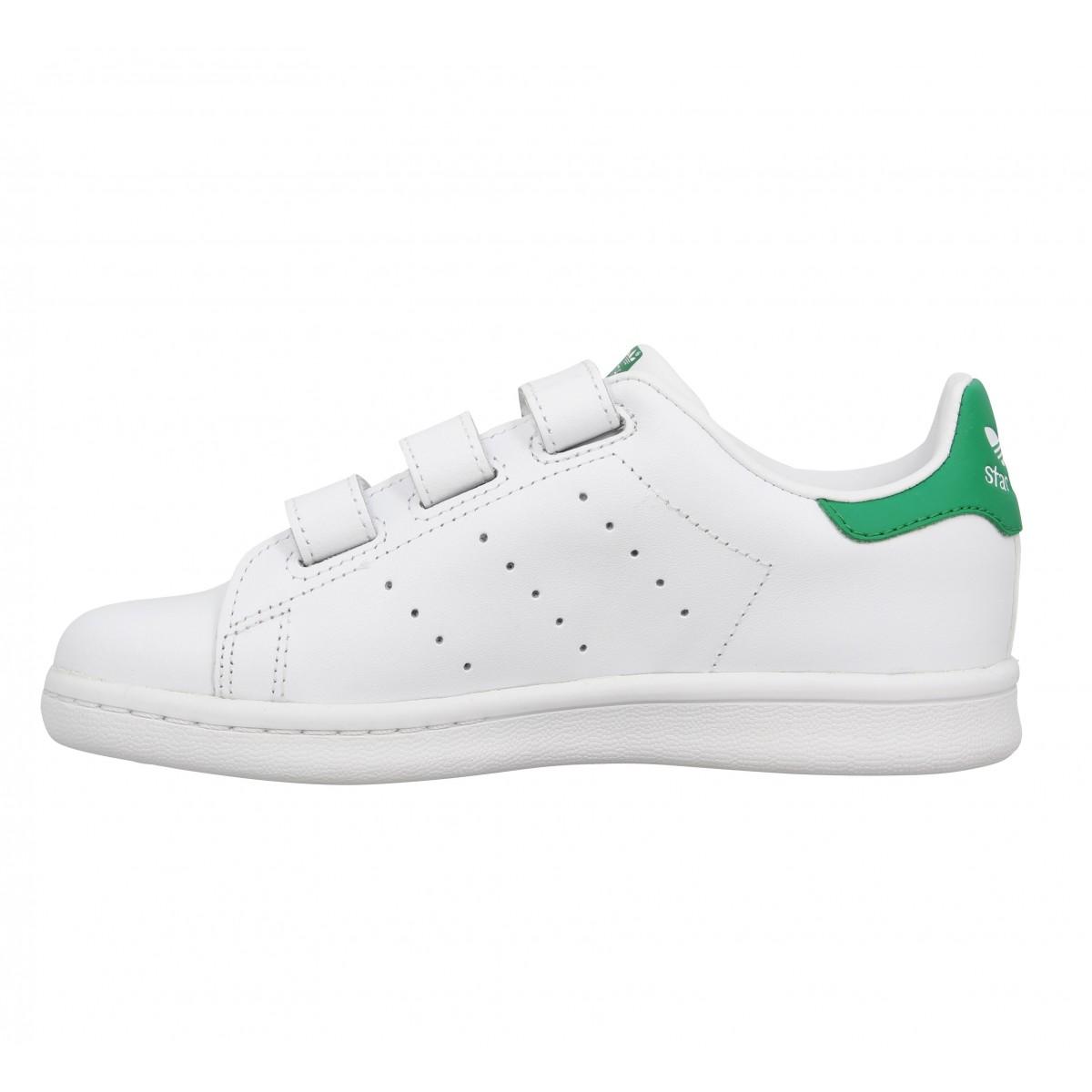 adidas stan smith ii cuir enfant blanc vert fanny chaussures. Black Bedroom Furniture Sets. Home Design Ideas