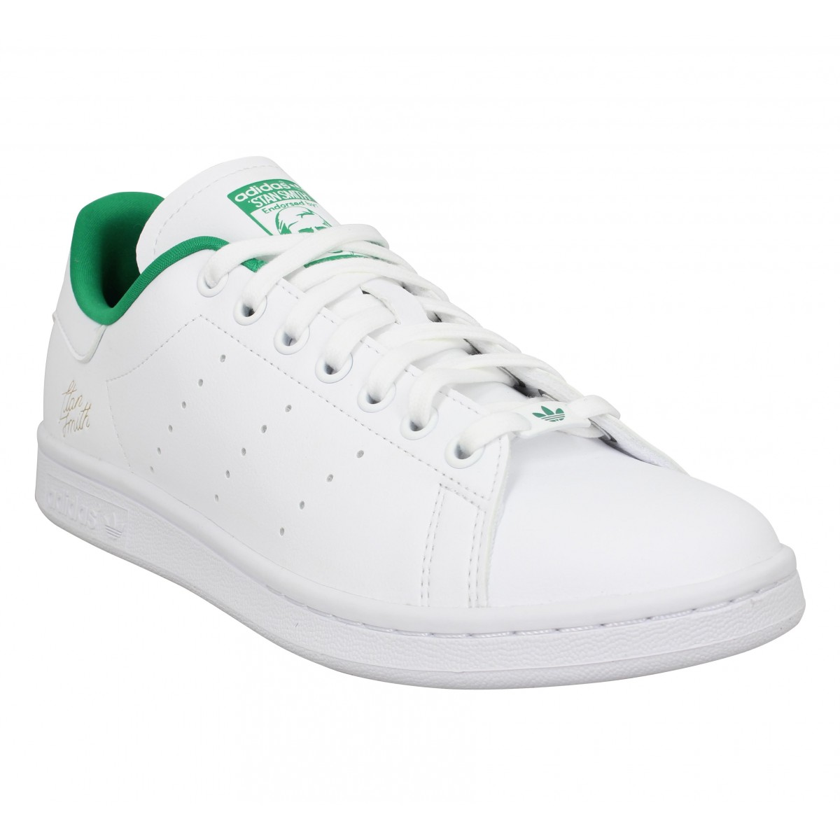 Baskets ADIDAS Stan Smith primegreen Homme Blanc Vert