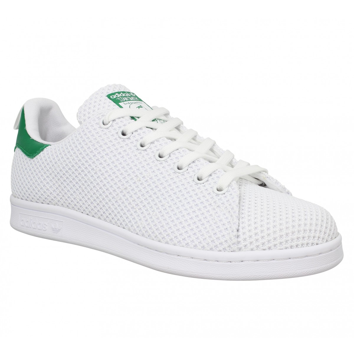 info for 38ffb b4784 Baskets ADIDAS Stan Smith toile Blanc Vert