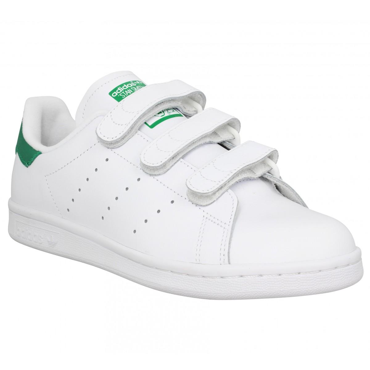 Adidas Femme Stan Smith Velcro Cuir -36...