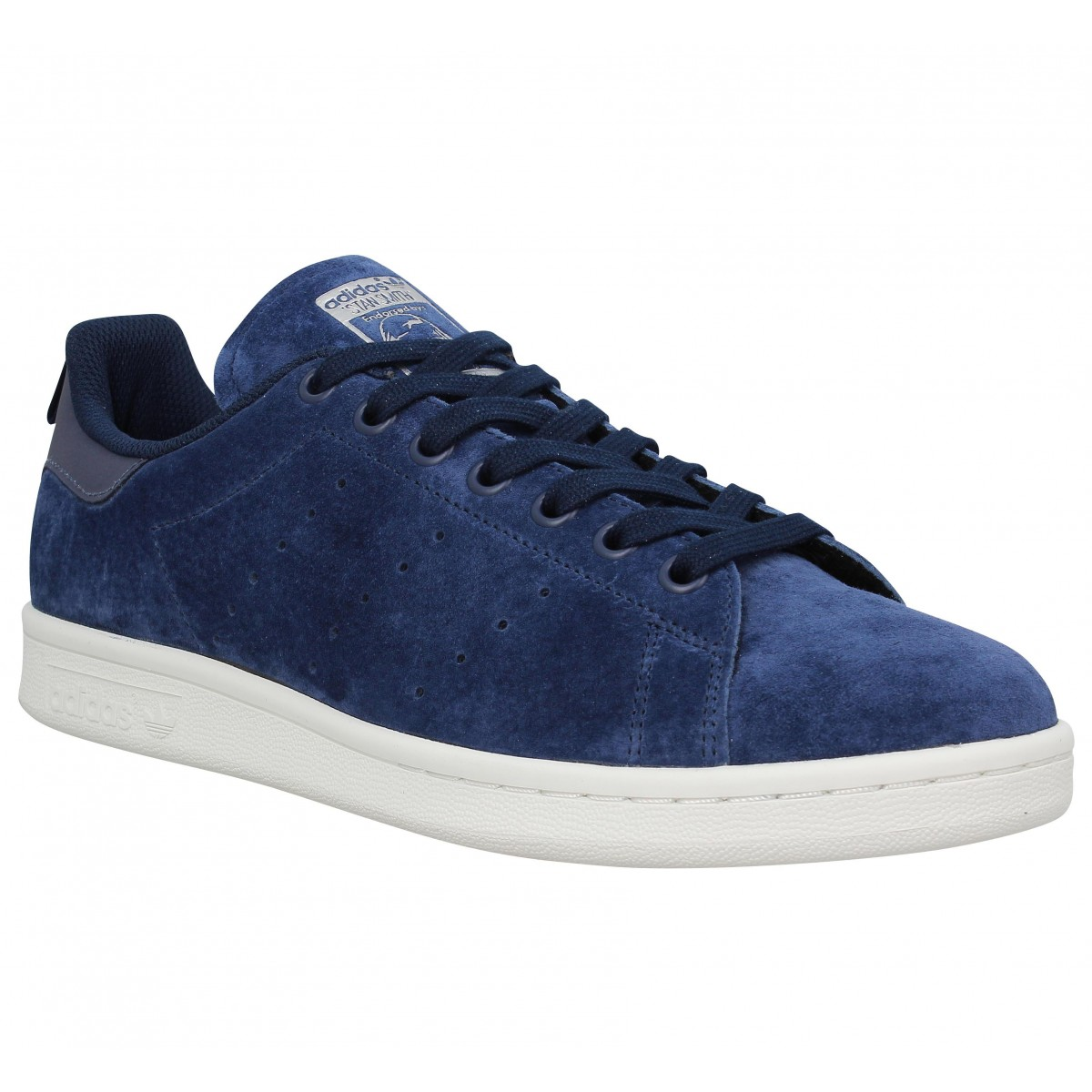 Baskets ADIDAS Stan Smith velours Homme Marine