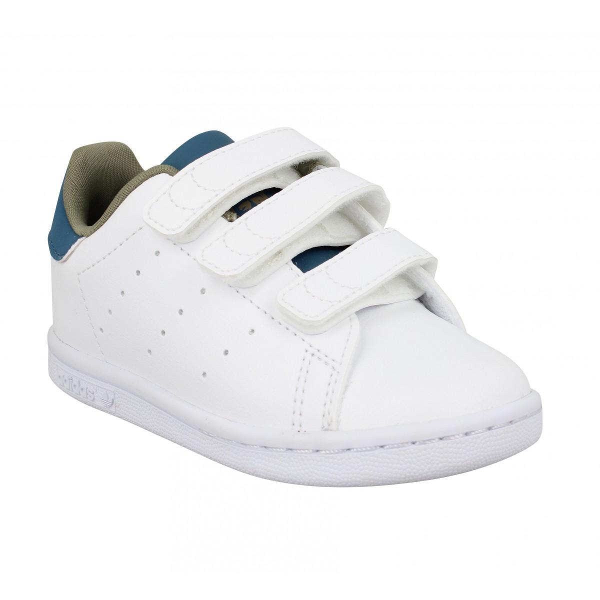 Baskets ADIDAS Stan Smith VL primegreen Enfant Blanc Bleu