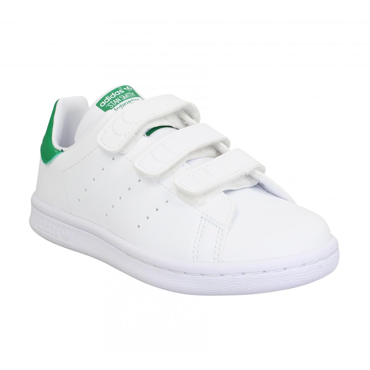 Baskets ADIDAS Stan Smith VL primegreen Enfant Blanc Vert