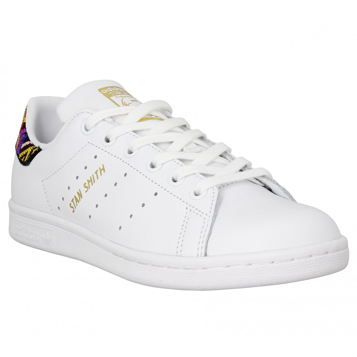 dd9c886e79 Chaussures Adidas stan smith x the farm company cuir femme blanc ...