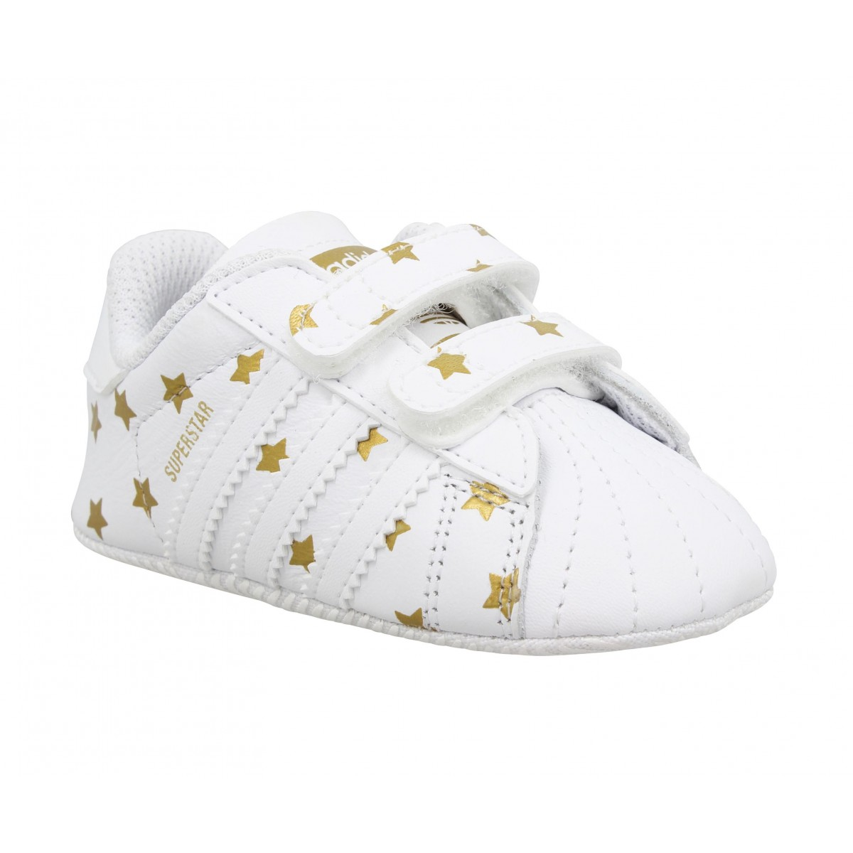 Baskets ADIDAS Superstar Crib cuir Enfant Blanc