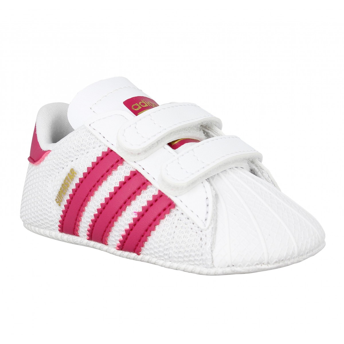 Baskets ADIDAS Superstar Crib Enfant Blanc Rose