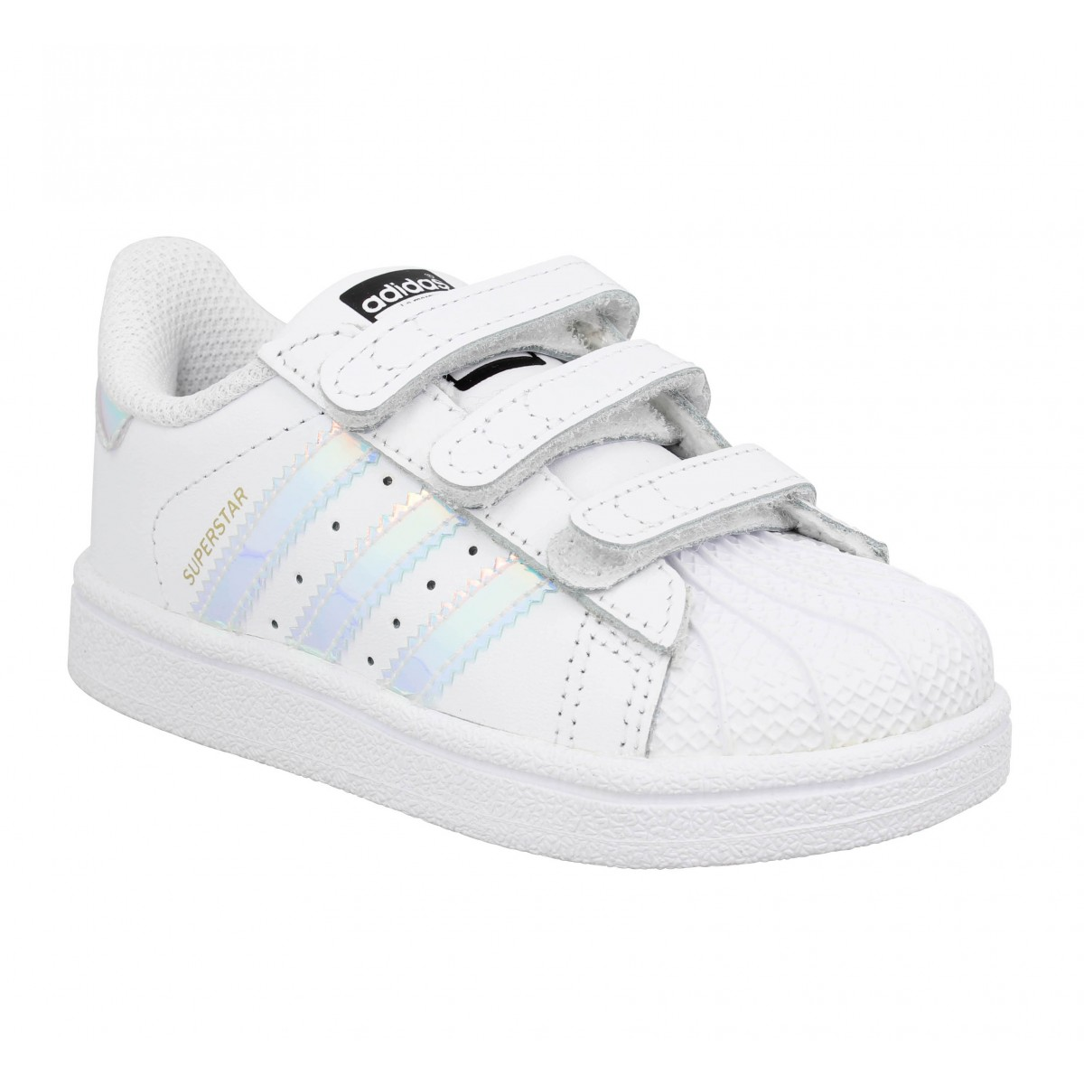 Baskets ADIDAS Superstar cuir Enfant Metsilver