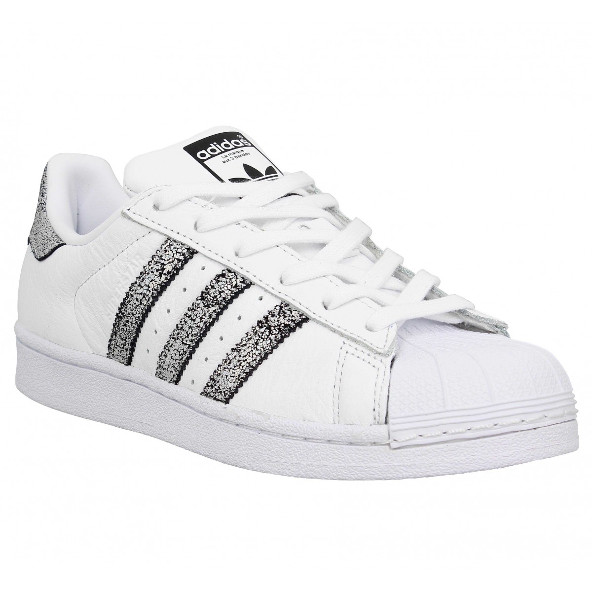 adidas superstar argenté