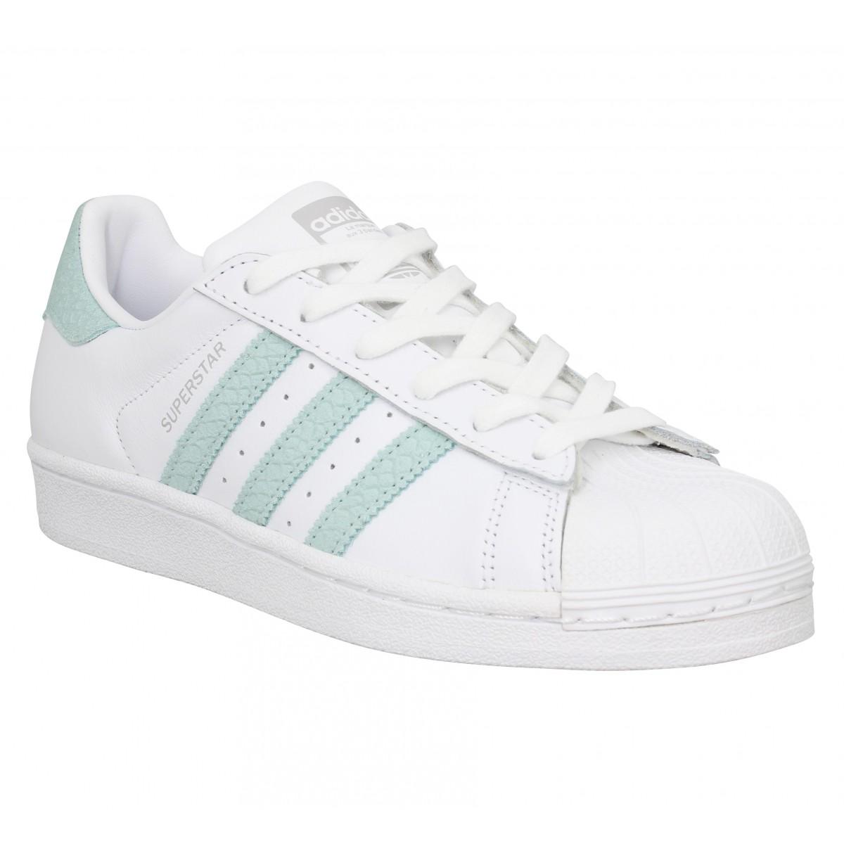 Adidas Femme Superstar Cuir -36-blanc...