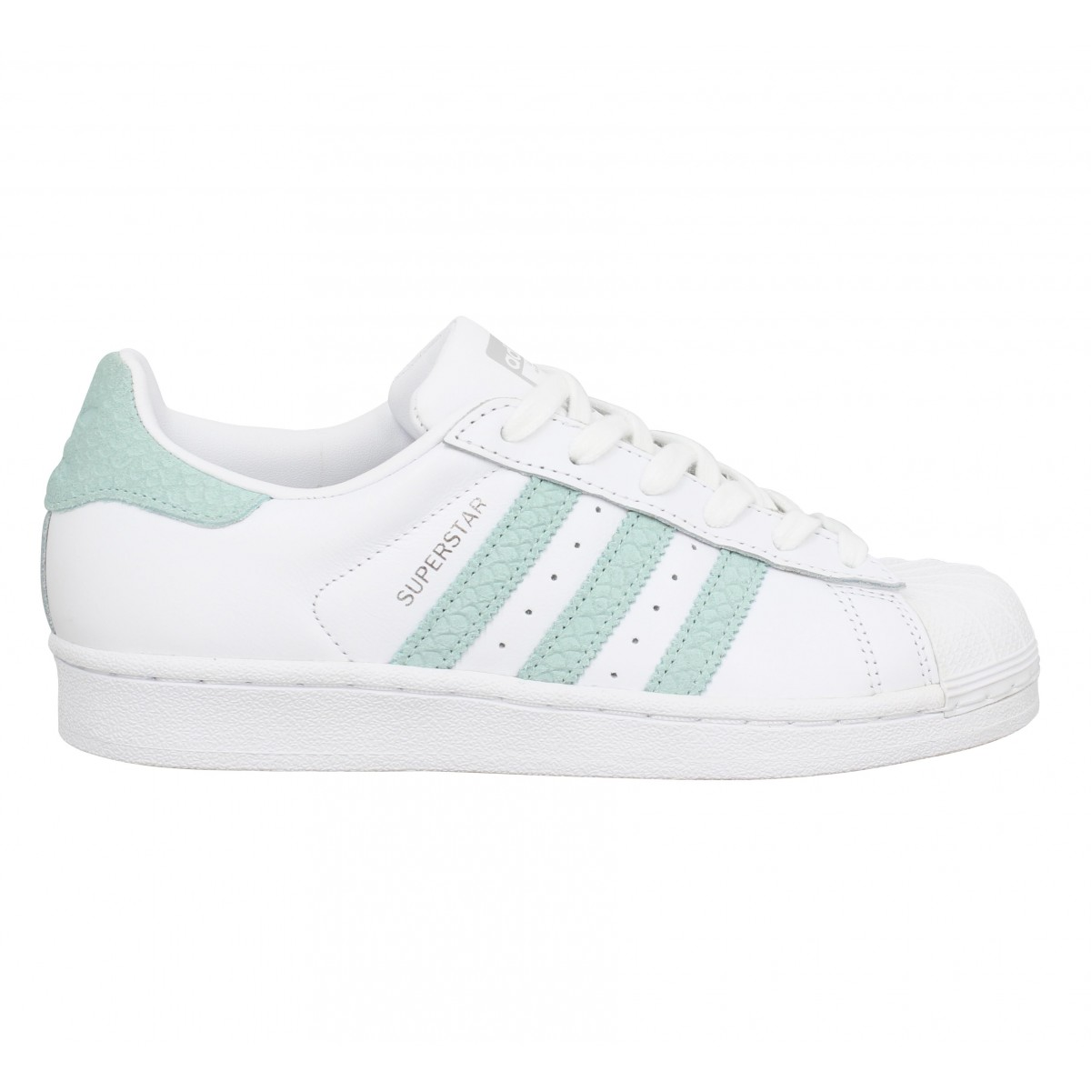 Baskets Adidas Superstar femme. Référence : 008143-Blanc Gold rose