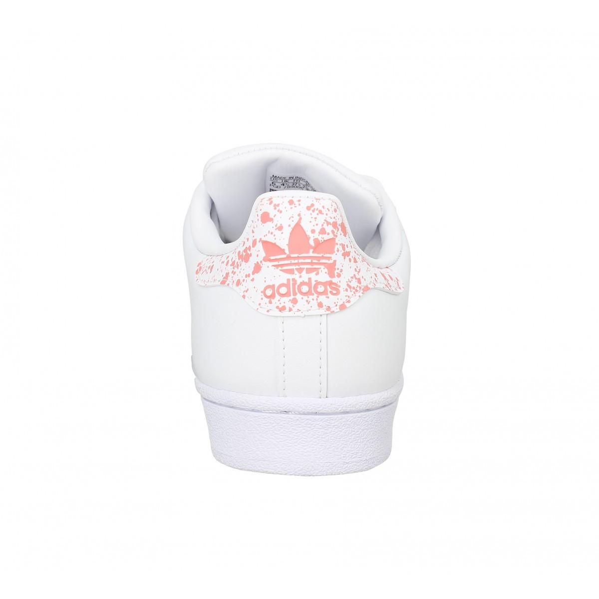 meilleures baskets c43a7 0009a ADIDAS Superstar cuir Femme Blanc Rose