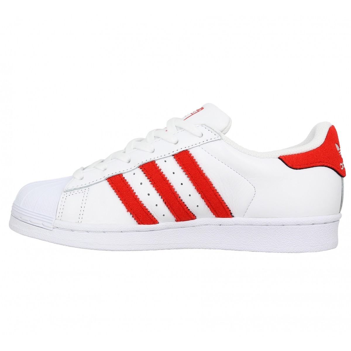 adidas superstar cuir rouge