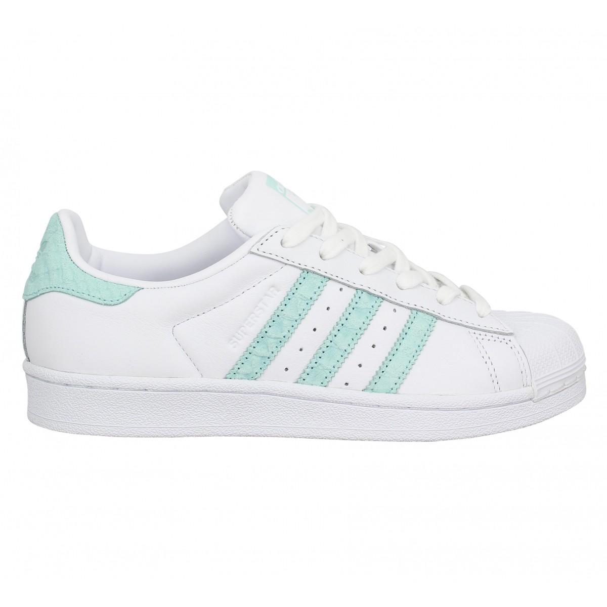 design intemporel c2c69 d23d9 ADIDAS Superstar cuir Femme Blc Vert
