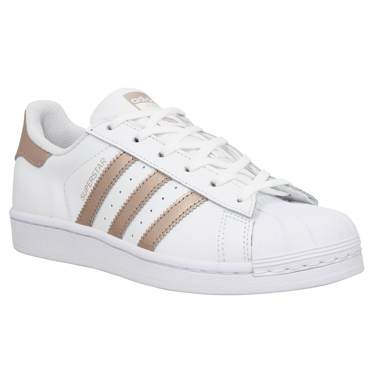 Adidas superstar blanc gold rose femme |
