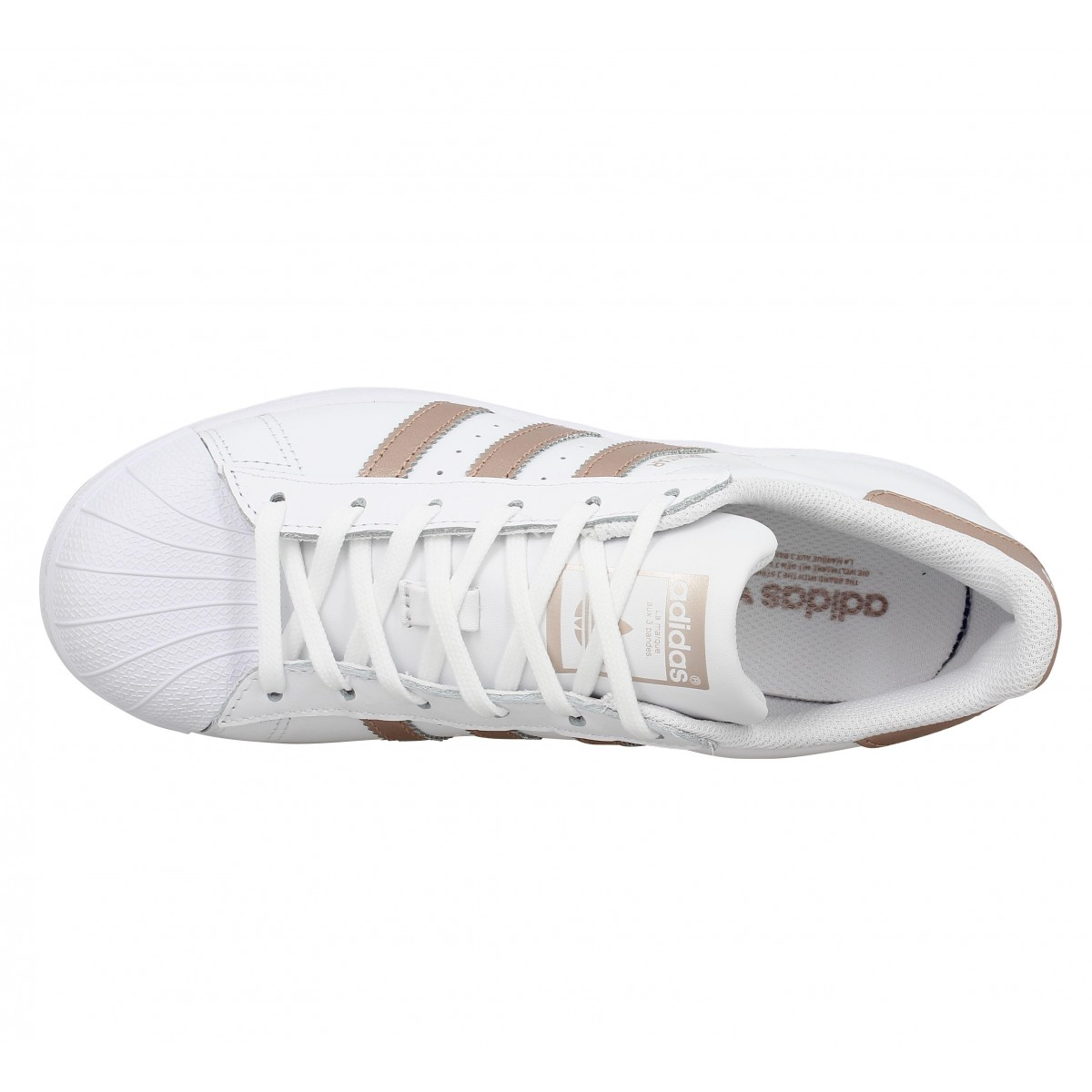 adidas superstar rose gold femme