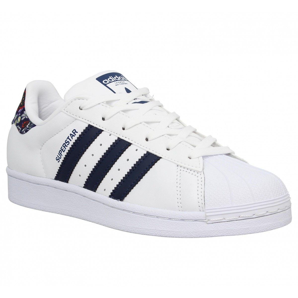 Adidas Femme Superstar-38-blanc Marine