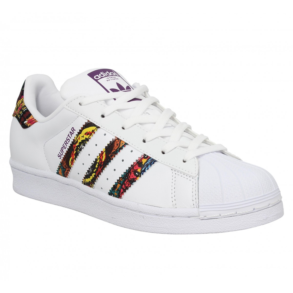 Baskets ADIDAS Superstar Blanc Pourpre