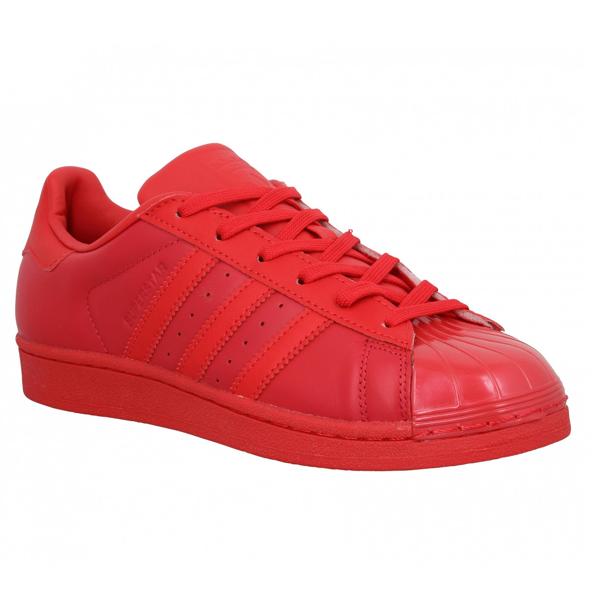 Baskets ADIDAS Superstar Glossy Rouge