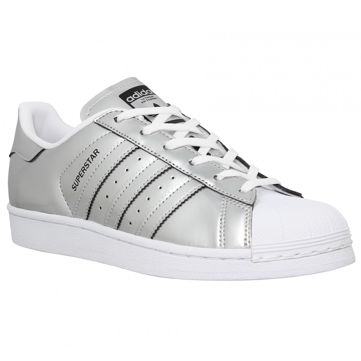 Baskets ADIDAS Superstar metal Femme Argent