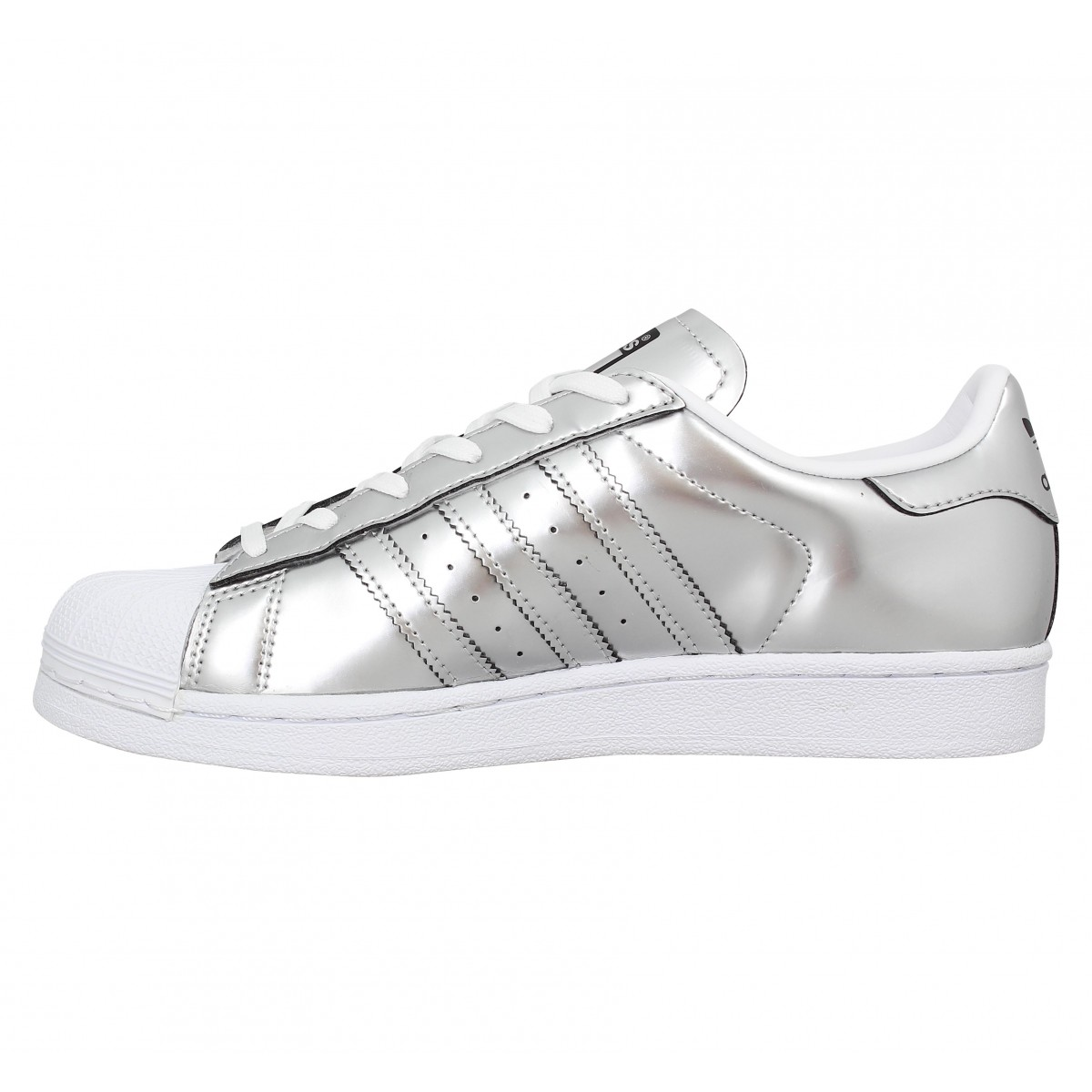 Chaussures Adidas superstar metal femme argent femme   Fanny ...