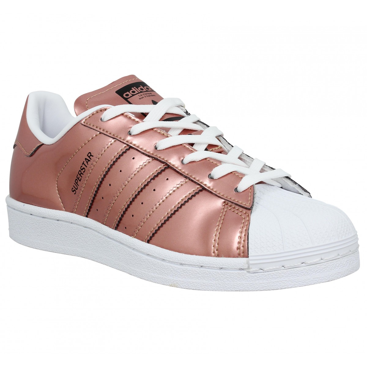 Baskets ADIDAS Superstar metal Femme Cuivre