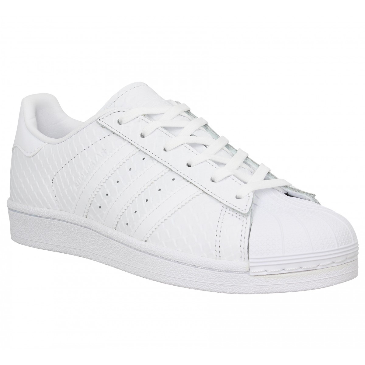 Baskets ADIDAS Superstar reptile Blanc