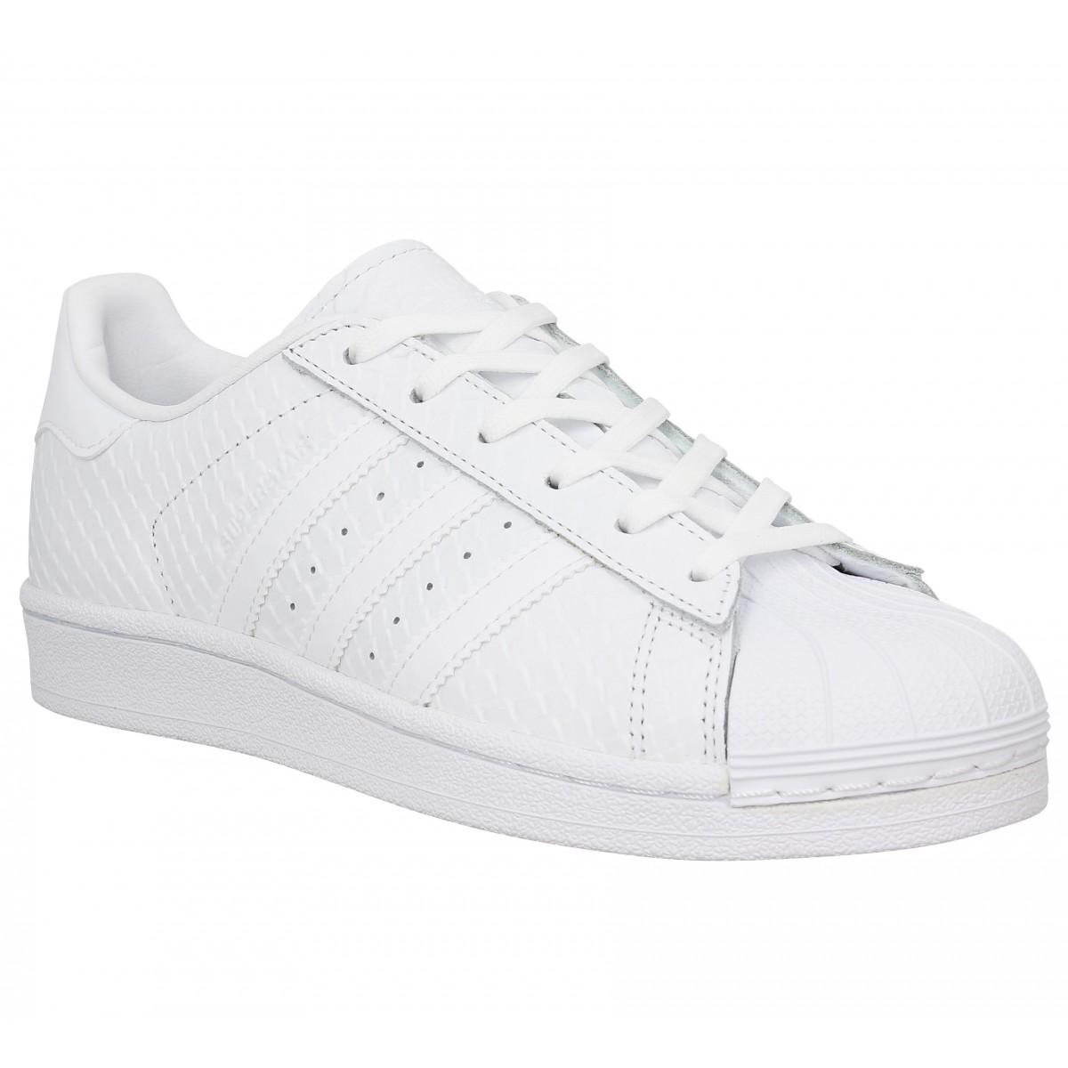 Adidas Femme Superstar Reptile-40-blanc