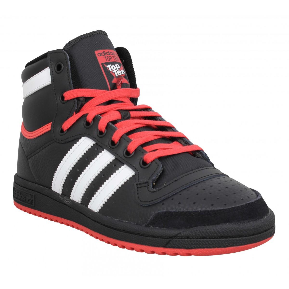 Adidas Femme Top Ten Hi Cuir -36-noir