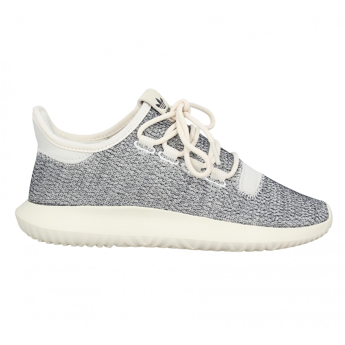 new concept a51e8 06743 Baskets ADIDAS Tubular Shadow toile Femme Blanc Casse. 1