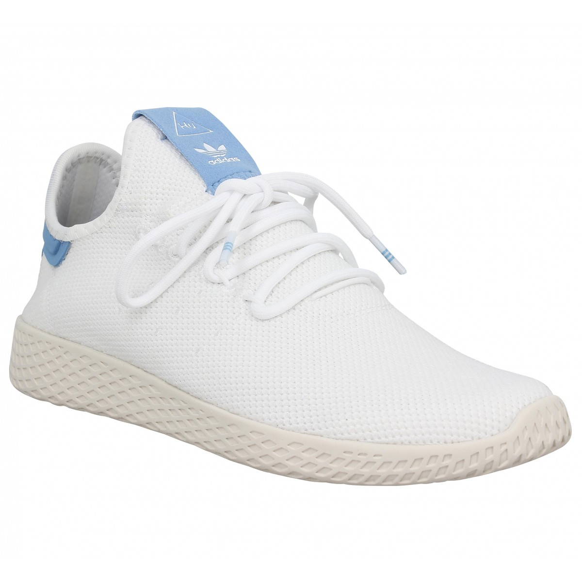 Baskets ADIDAS X PHARRELL WILLIAMS PW Tennis mesh Blanc Bleu