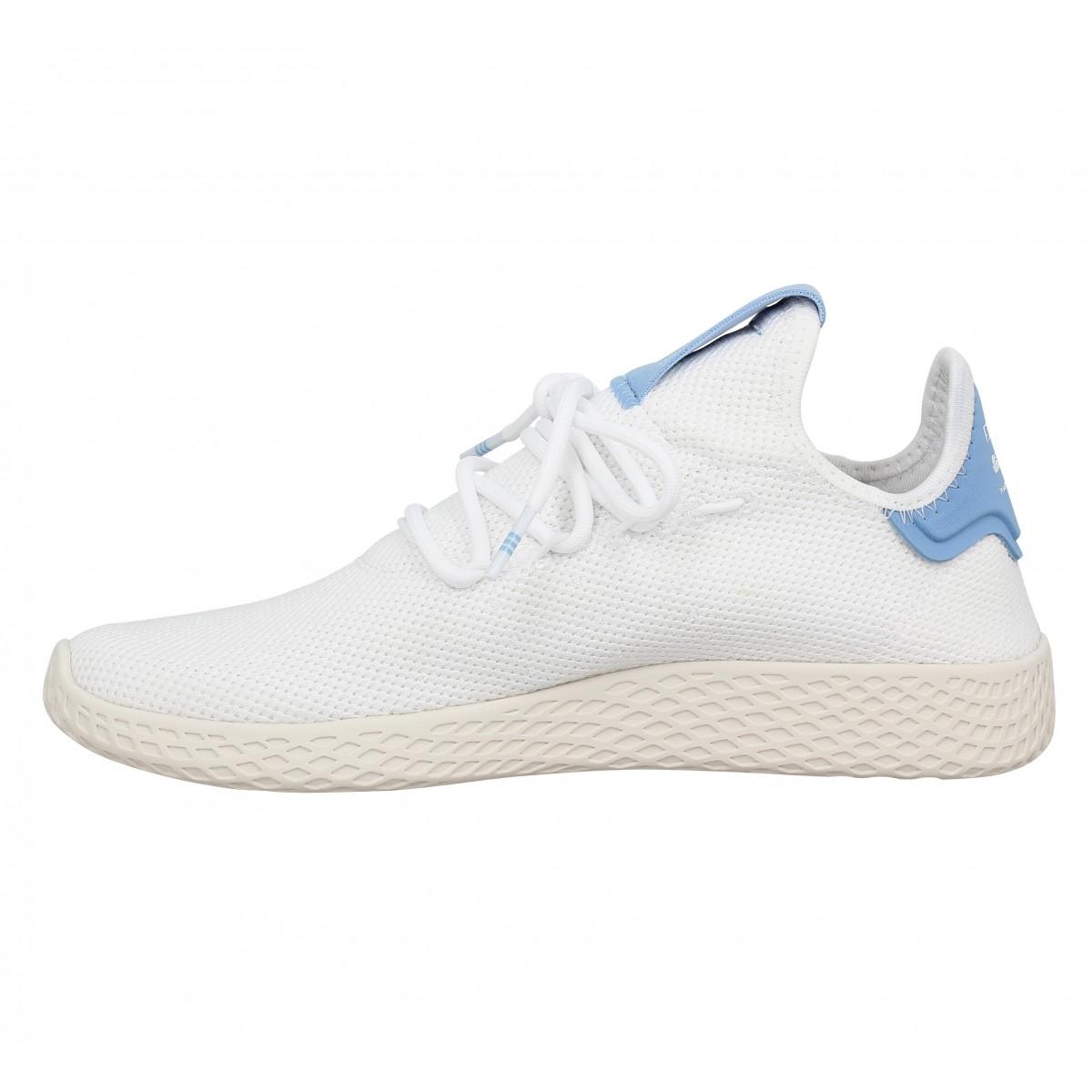Chaussures Adidas x pharrell williams pw tennis mesh blanc bleu ...