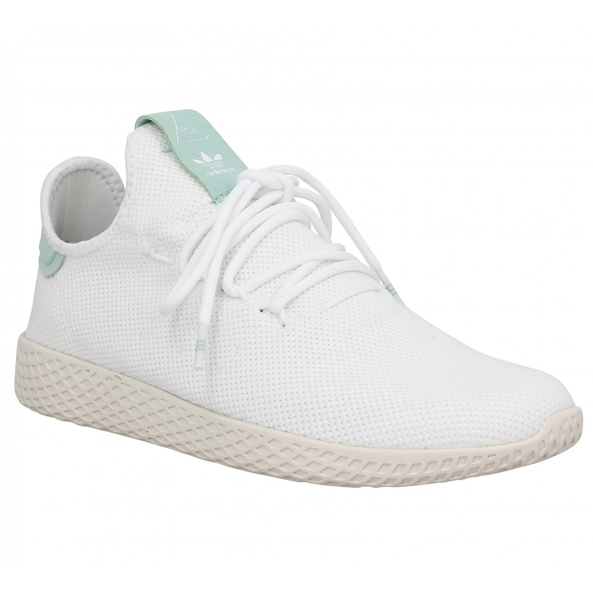 Baskets ADIDAS X PHARRELL WILLIAMS PW Tennis mesh Blanc Vert