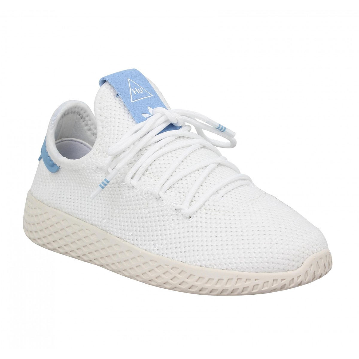 Baskets ADIDAS X PHARRELL WILLIAMS PW Tennis mesh Enfant Blanc Bleu