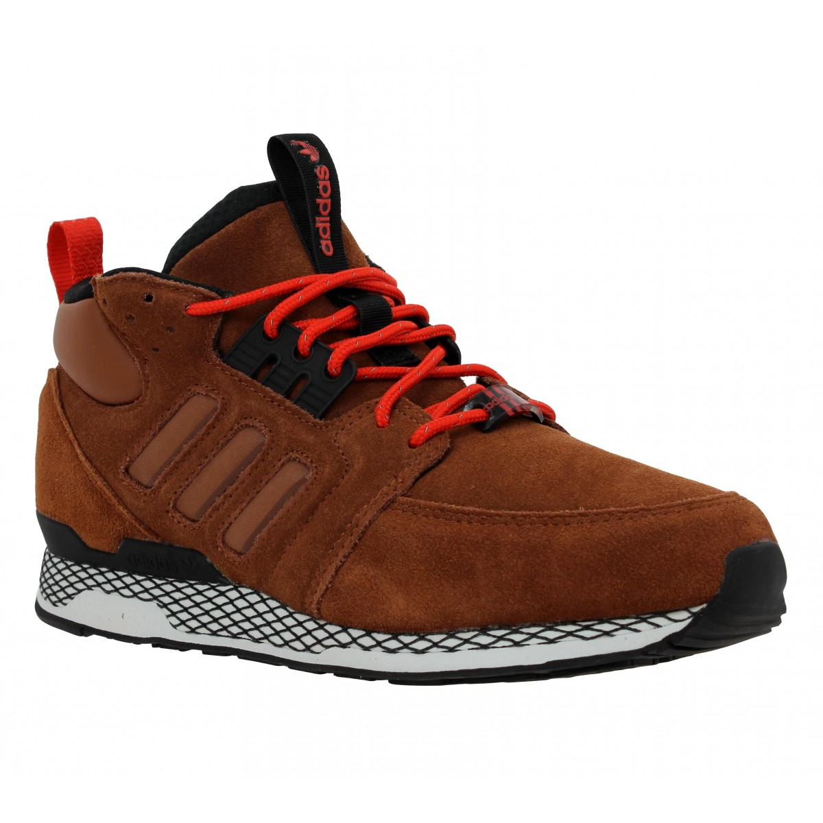 Baskets ADIDAS ZX Casual Mid velours Homme Chocolat