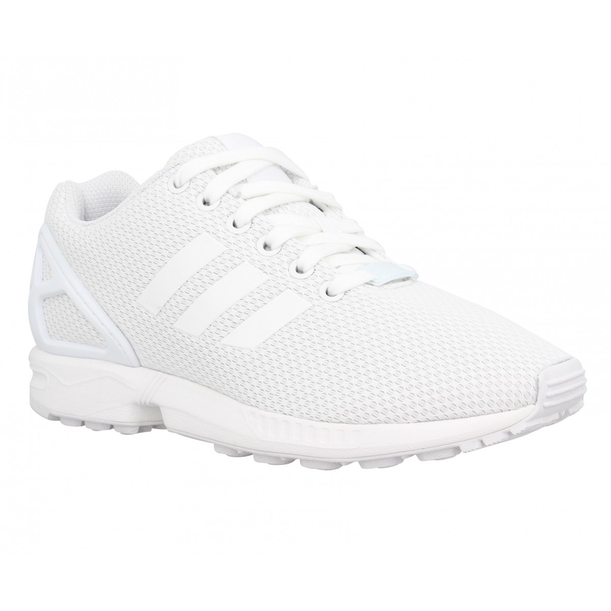 Baskets ADIDAS ZX Flux toile Homme Blanc