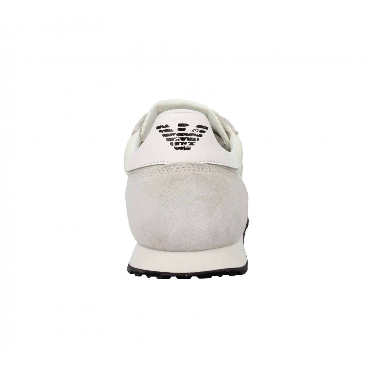 6524 Chaussures Armani Toile Velours Jeans Homme BlancFanny UzMVpS