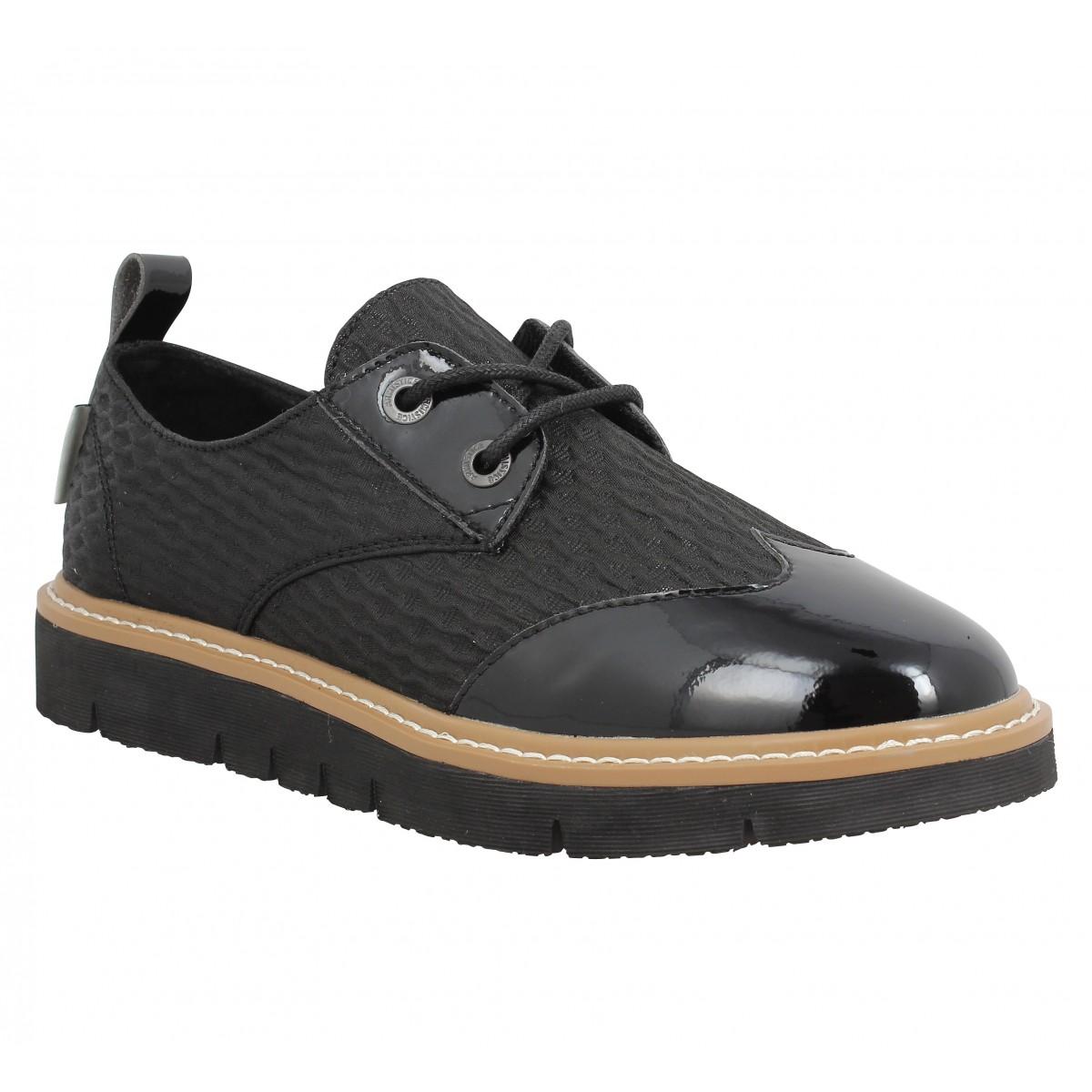 soldes armistice fox derby noir femme fanny chaussures. Black Bedroom Furniture Sets. Home Design Ideas