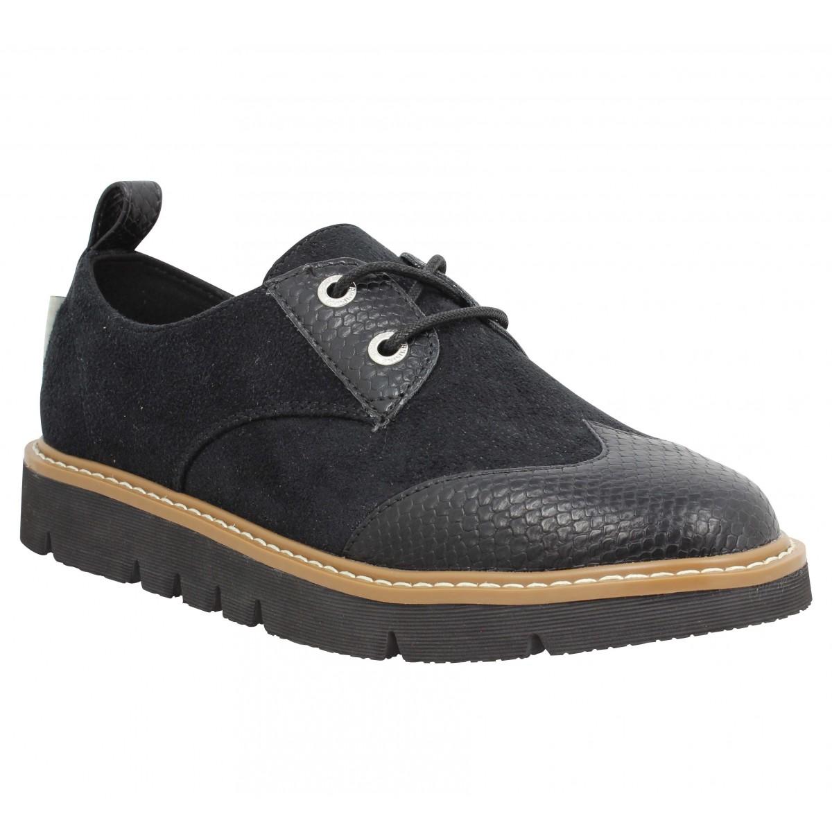 Chaussures à lacets ARMISTICE Fox Derby pickles Femme Noir