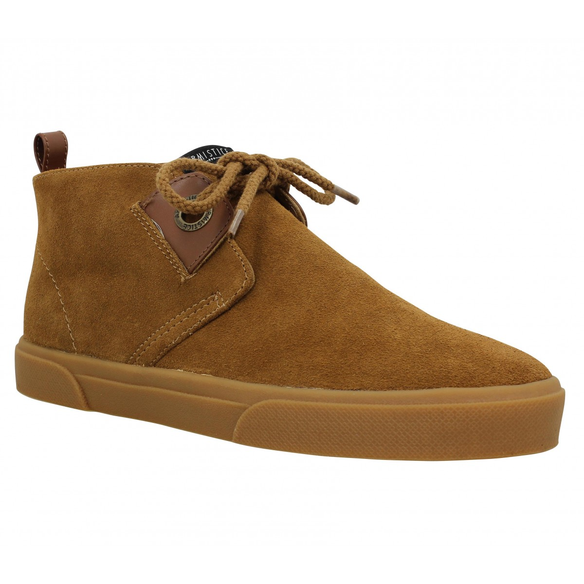 Baskets ARMISTICE Hope Mid Cut velours Homme Camel